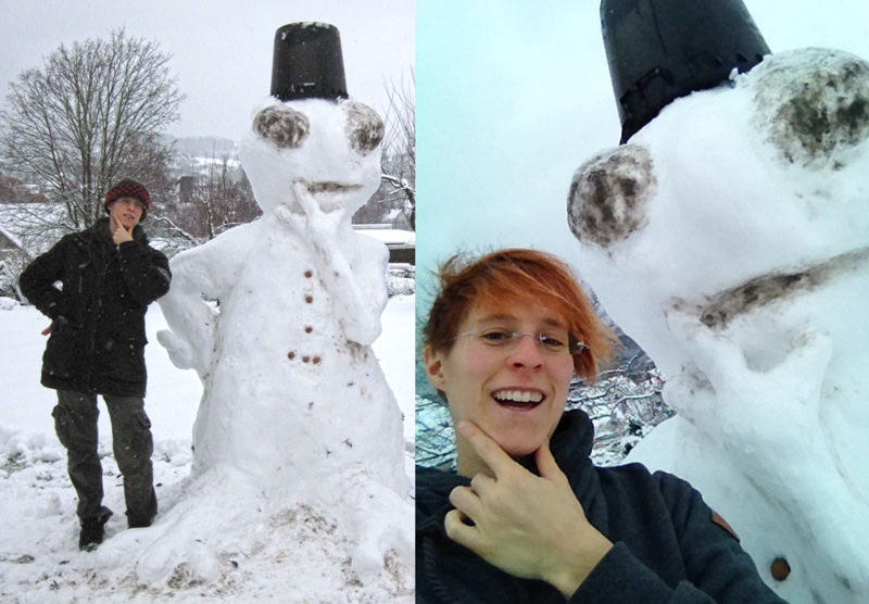 Schnee. Faszinierend.