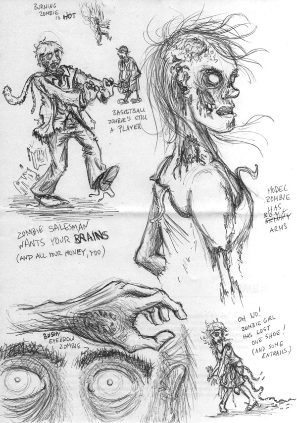 Zombie-skizzen